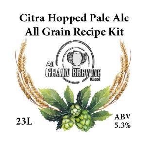 Citra Hopped Pale Ale All Grain Recipe Kit
