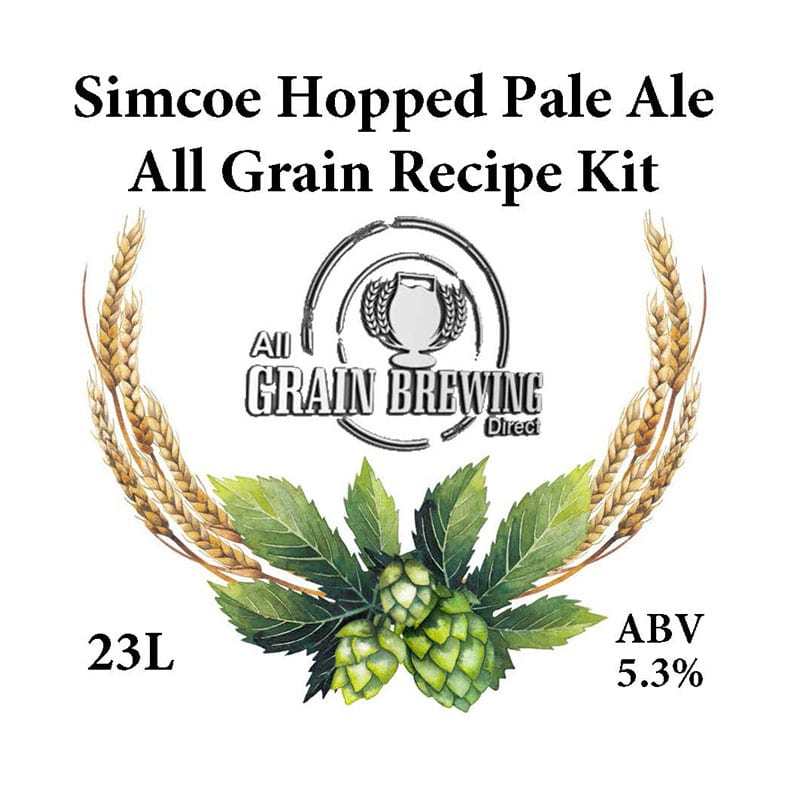 Simcoe Hopped Pale Ale All Grain Recipe Kit