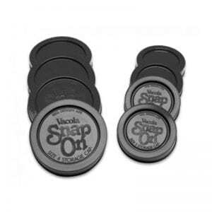 Fowlers Vacola - Snap On Caps Size 4 (Black) - 4 Pack