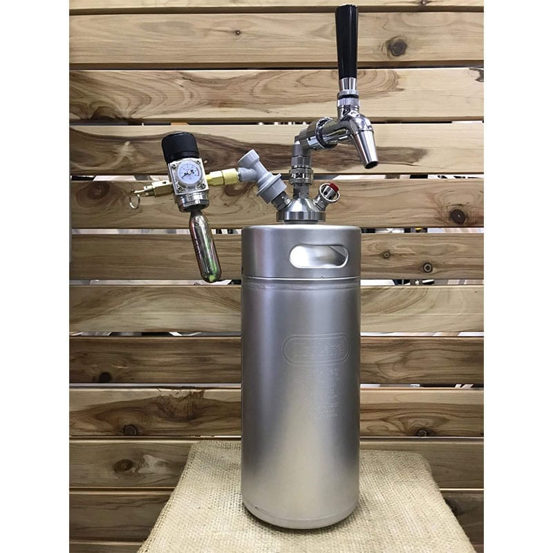 Stainless Steel Mini Keg 4L Flow Control Package