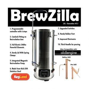 BrewZilla 35L - Gen 3.1 - Single Vessel All Grain Brewery