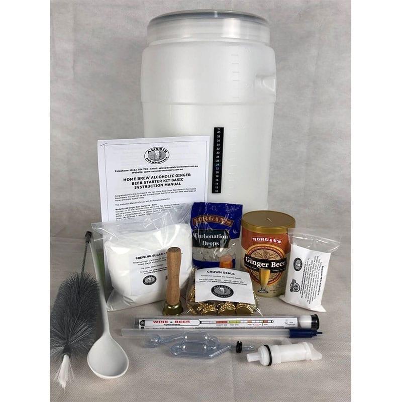 Home Brew Ginger Beer Starter Kit - Basic - FREE FREIGHT Australia Wide
