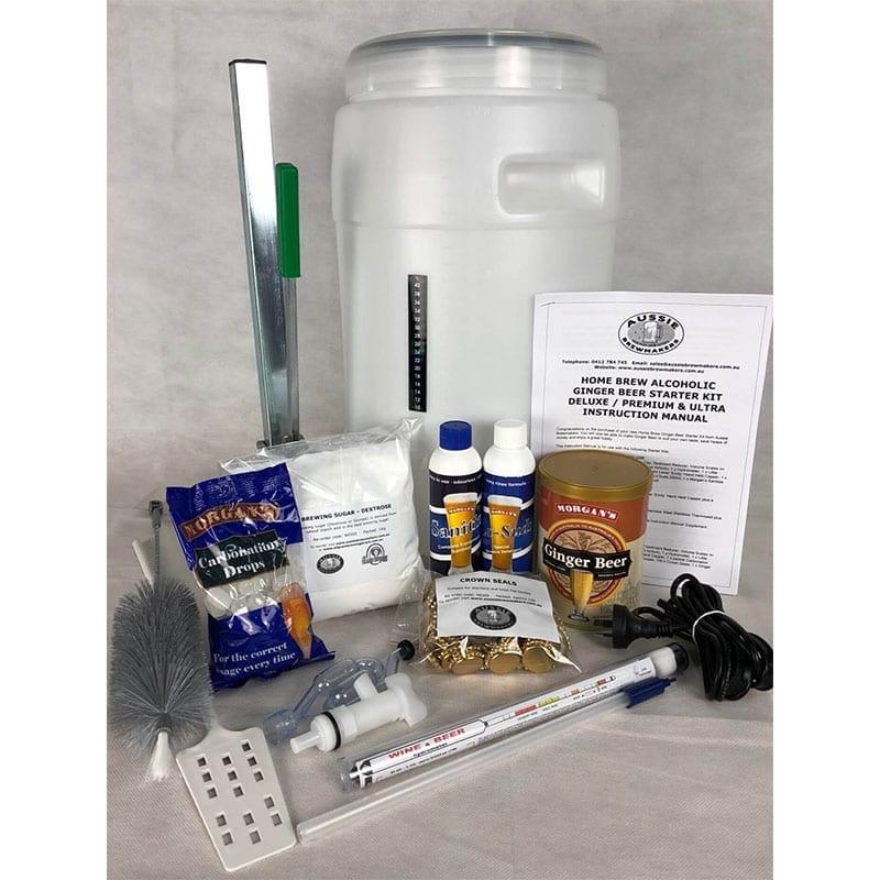 Home Brew Ginger Beer Starter Kit - Premium - FREE FREIGHT Australia Wide