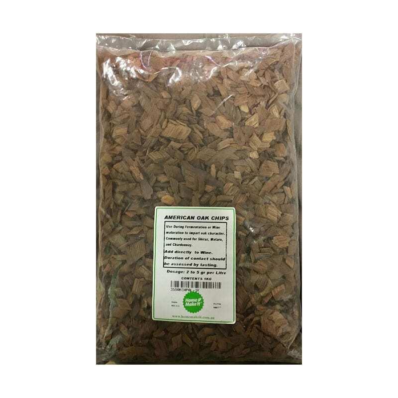 American Oak Chips - Medium Toast - 1kg
