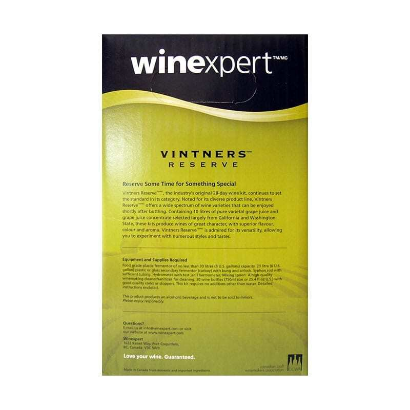 Wine Kit-Vintners Reserve Shiraz
