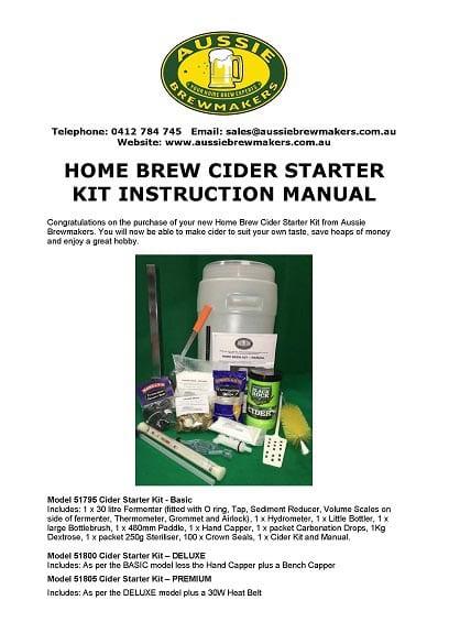 Home Brew Cider Starter Kit