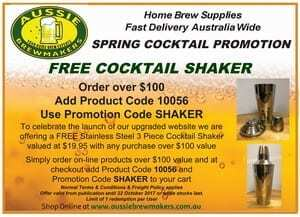 Spring Free Cocktail Shaker Promotion 7