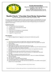 Double Chocky Chocolate Stout Recipe 2