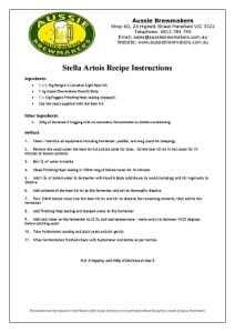 Stella Artois Recipe Instructions 5