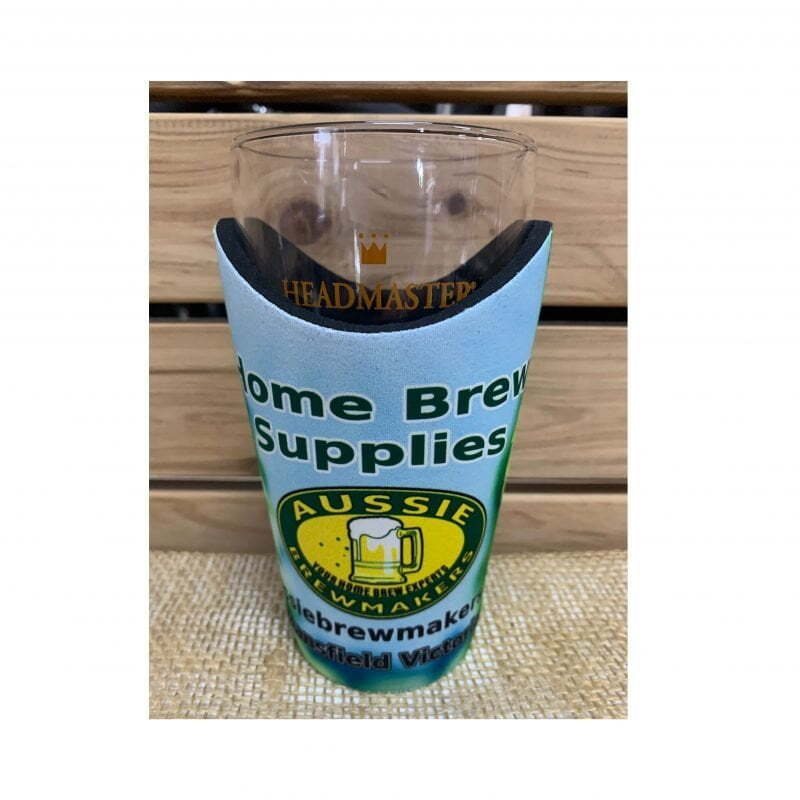 Aussie Brewmakers Schooner Wave Cooler and 425ml Headmaster Glass