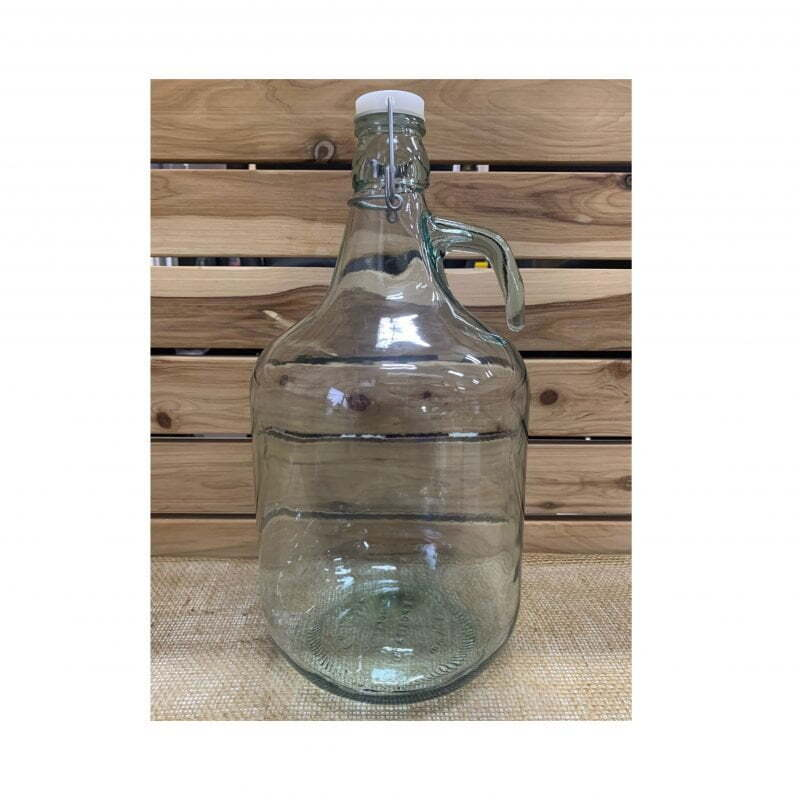 5L Demijohn with Swing Lid - Straight Handle